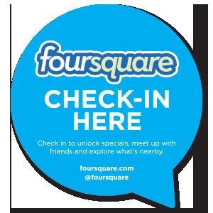 Foursquare - Check-in here sticker