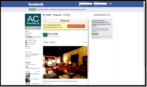 AC by Marriott - Facebook Page - Pinterest Tab
