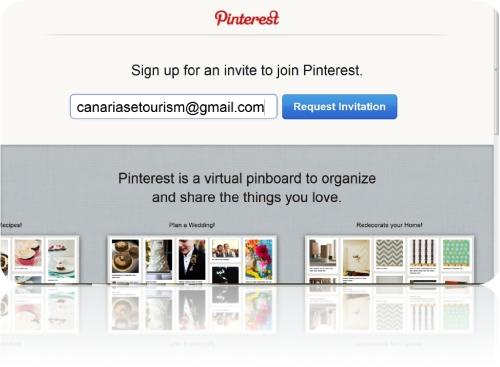 Invitación Pinterest